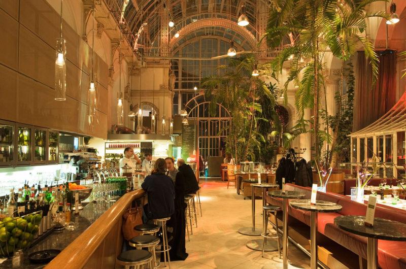 D0AB4H Osterrreich, Wien I, Burggarten, Restaurant im Palmenhaus